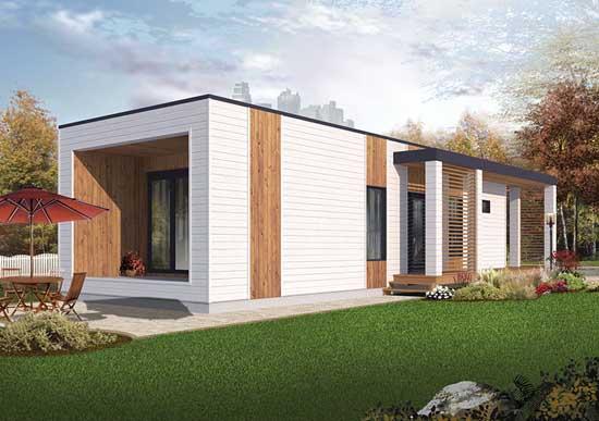 Modern Style House Plans Plan: 5-1241
