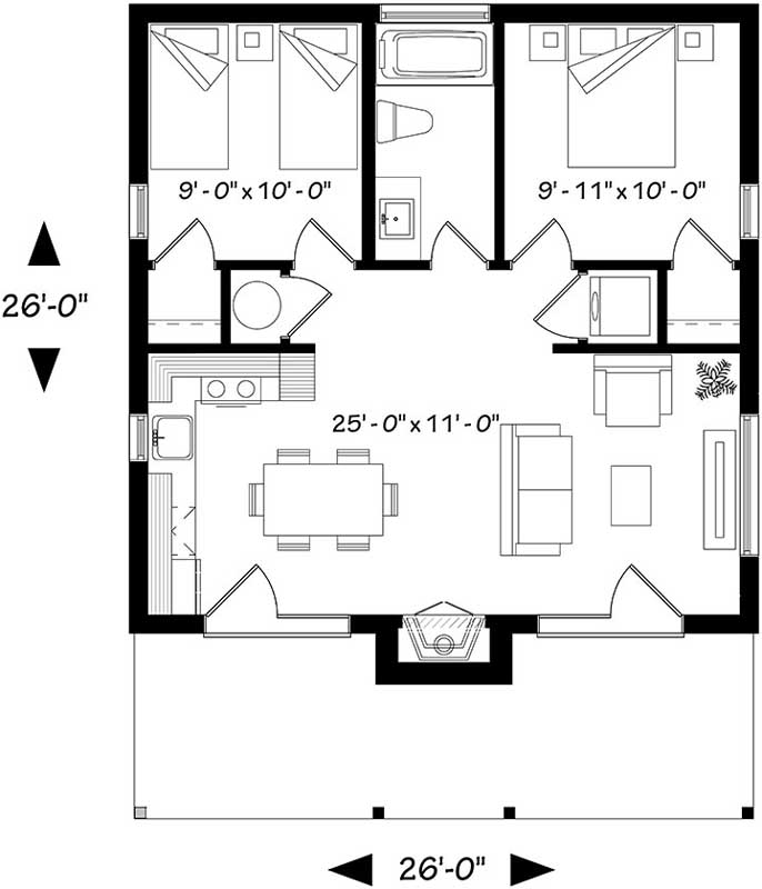 Main Floor Plan: 5-1244