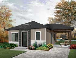 Contemporary Style Floor Plans Plan: 5-1245