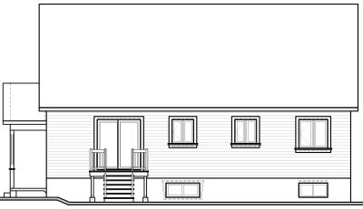 Rear Elevation Plan: 5-125
