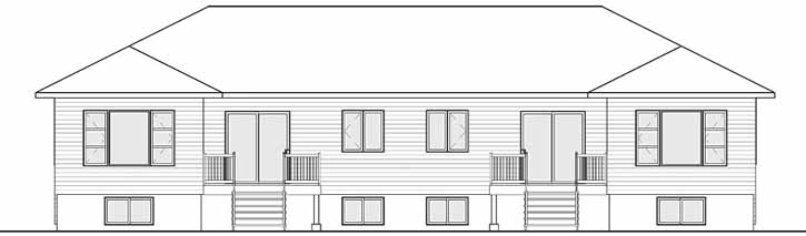Rear Elevation Plan: 5-1251