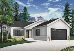 Traditional Style Home Design Plan: 5-1259