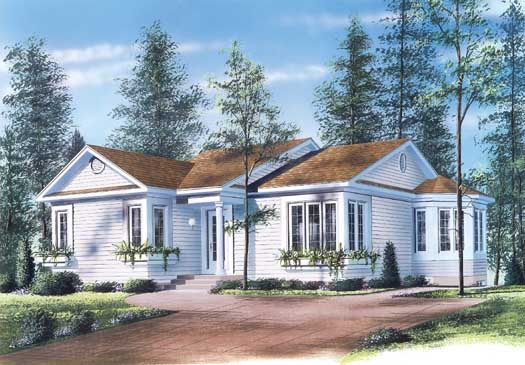 Traditional Style Home Design Plan: 5-126