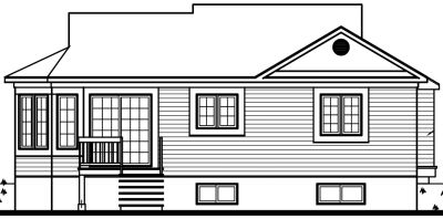 Rear Elevation Plan: 5-126