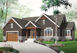 Traditional Style Home Design Plan: 5-1268