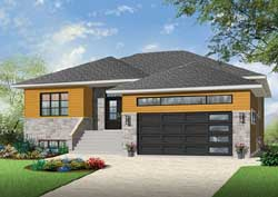 Modern Style House Plans Plan: 5-1269