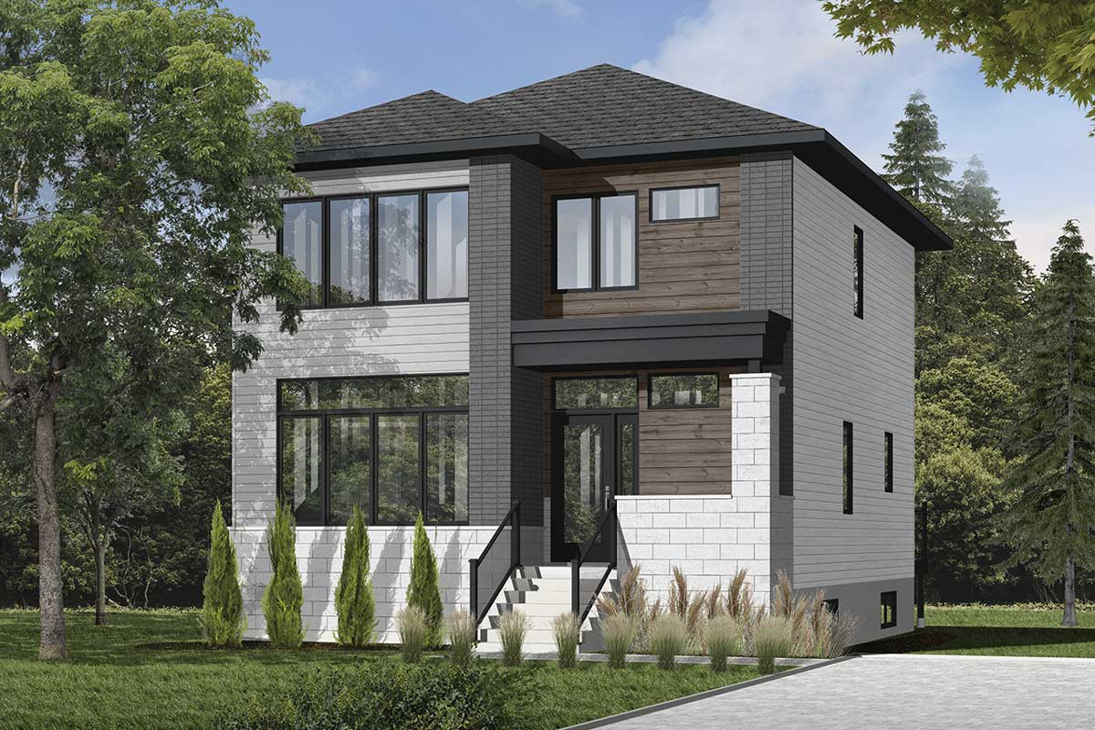 Modern House Plan - 3 Bedrooms, 1 Bath, 1768 Sq Ft Plan 5-1280