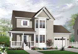 Victorian Style House Plans Plan: 5-1288
