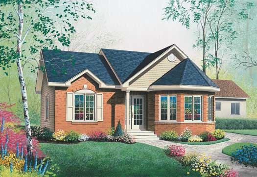 Traditional Style Floor Plans 5-129