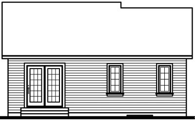 Rear Elevation Plan: 5-129