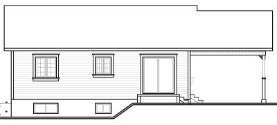 Rear Elevation Plan: 5-130