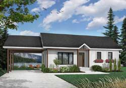 Country Style Floor Plans Plan: 5-130