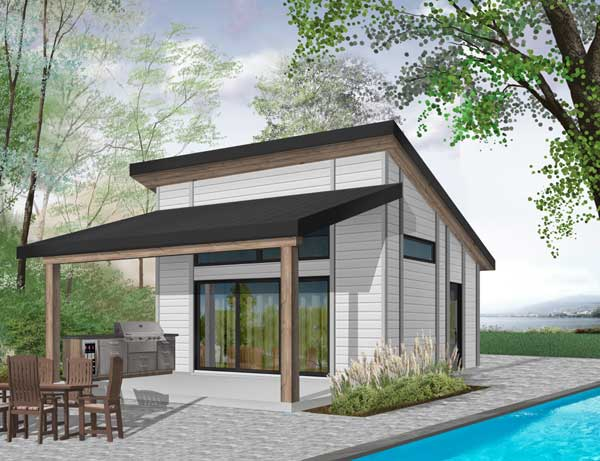 Contemporary Style House Plans Plan: 5-1307