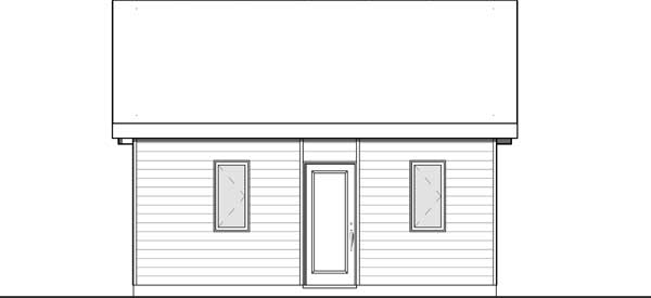 Rear Elevation Plan: 5-1307