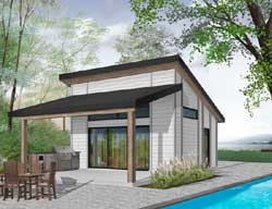 Contemporary Style Floor Plans Plan: 5-1307