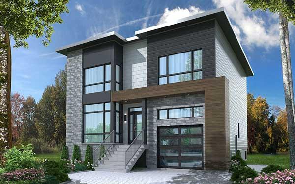 Modern House Plan 4 Bedrooms 3 Bath 2467 Sq Ft Plan 5 1314