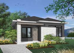 Modern Style Floor Plans Plan: 5-1319