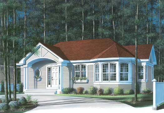 Traditional Style Floor Plans Plan: 5-132