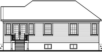 Rear Elevation Plan: 5-132