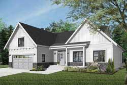 Modern-Farmhouse Style House Plans Plan: 5-1321