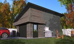 Contemporary Style House Plans Plan: 5-1324