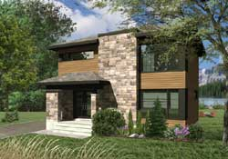 Modern Style House Plans Plan: 5-1334