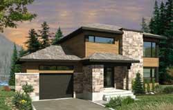 Modern Style Home Design Plan: 5-1335