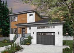 Modern Style Floor Plans Plan: 5-1336