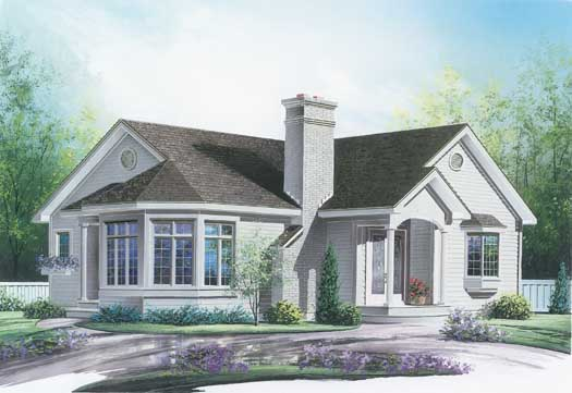 Traditional Style Home Design Plan: 5-134