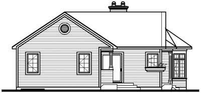 Rear Elevation Plan: 5-134