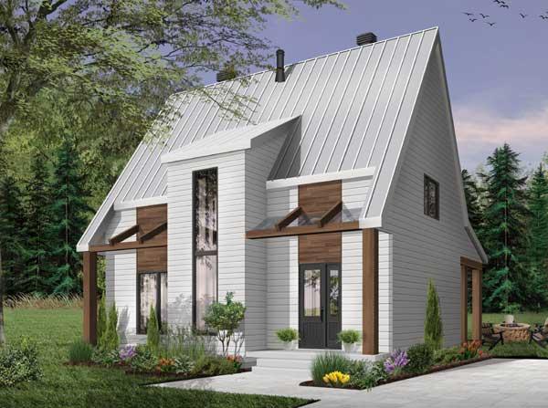 Modern Style Home Design Plan: 5-1346