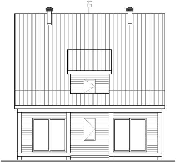 Rear Elevation Plan: 5-1346