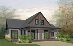Country Style Floor Plans Plan: 5-1352