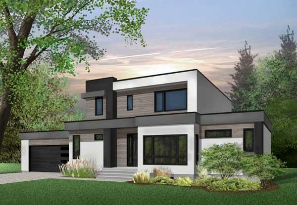 Modern Style Home Design Plan: 5-1354
