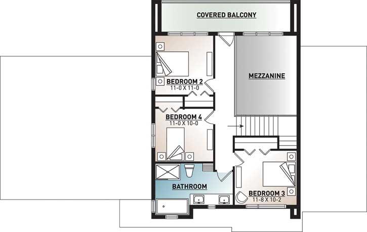 Upper/Second Floor Plan: 5-1354