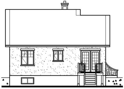 Rear Elevation Plan: 5-136
