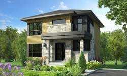 Modern Style House Plans Plan: 5-1361