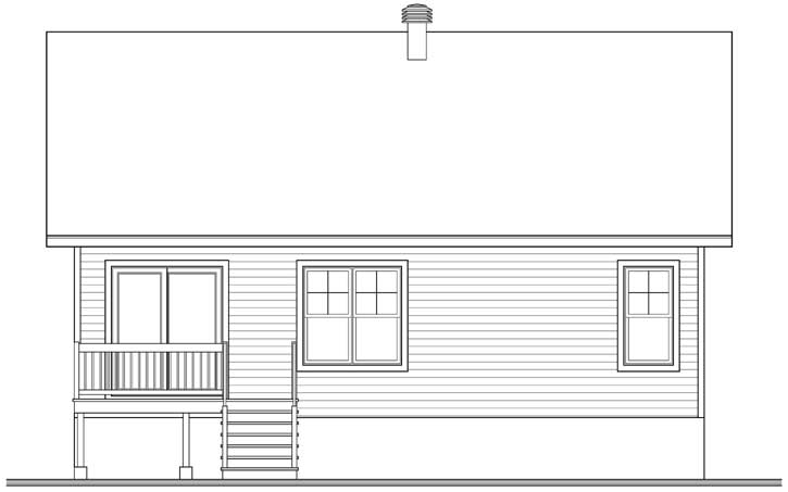 Rear Elevation Plan: 5-1367
