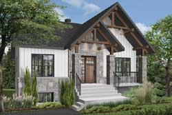 Mountain-or-Rustic Style Floor Plans Plan: 5-1367