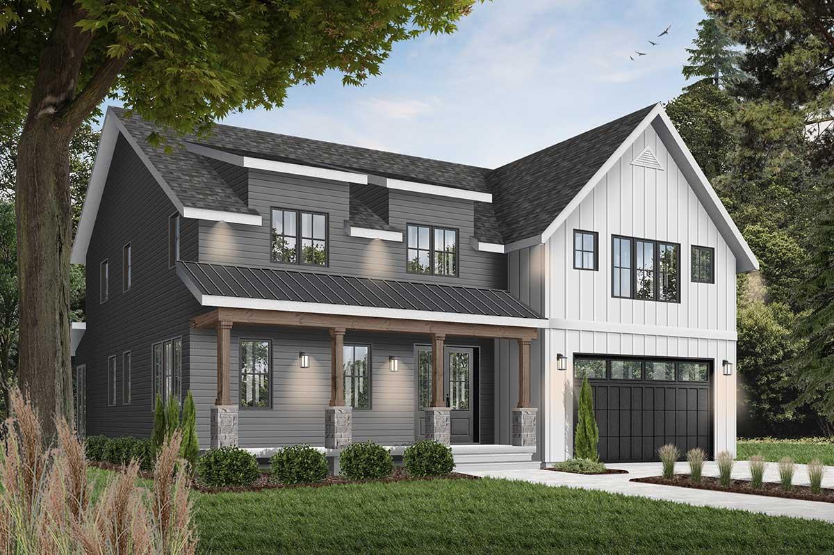 Modern-farmhouse House Plan - 5 Bedrooms, 4 Bath, 3497 Sq ...
