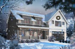 Modern-Farmhouse Style House Plans Plan: 5-1368