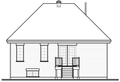 Rear Elevation Plan: 5-137