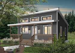 Modern Style Home Design Plan: 5-1370