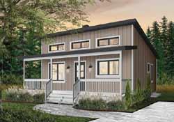 Modern Style Home Design Plan: 5-1371