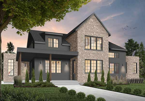 Modern-farmhouse Style Floor Plans Plan: 5-1372