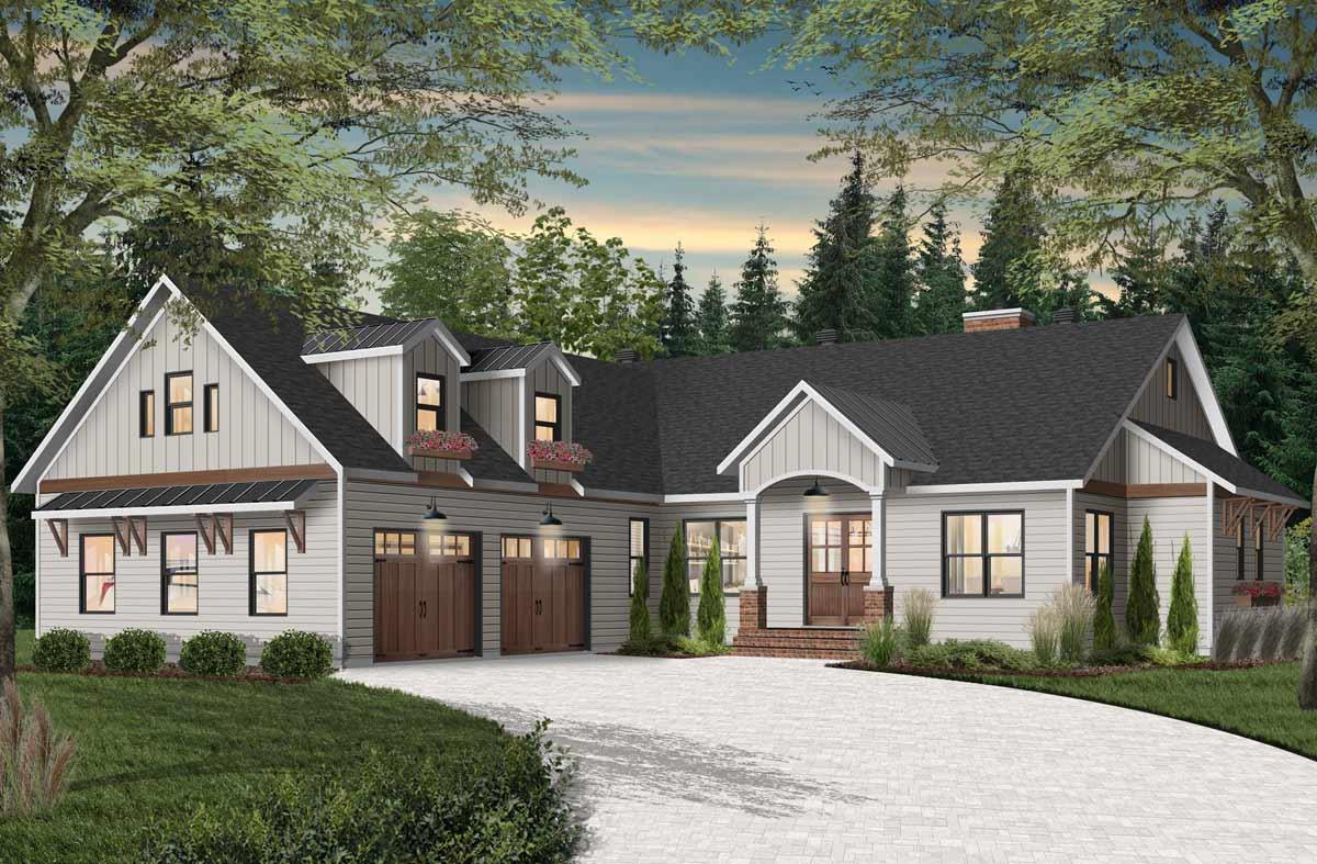 Modern-farmhouse House Plan - 3 Bedrooms, 2 Bath, 3249 Sq ...