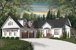 Modern-Farmhouse Style Home Design Plan: 5-1375