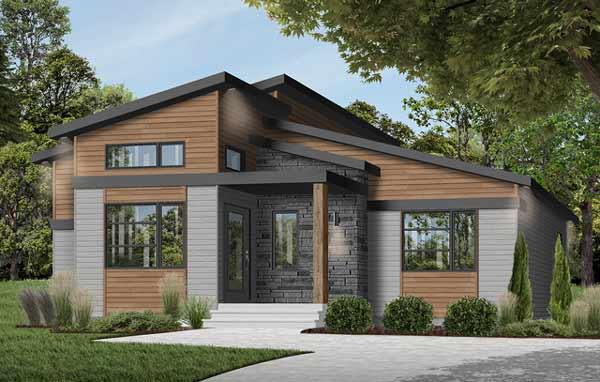 Modern Style Floor Plans Plan: 5-1376