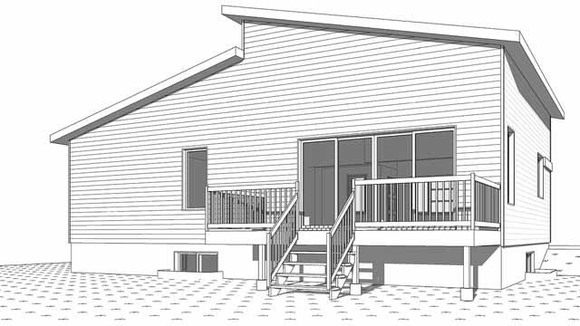 Rear Elevation Plan: 5-1376