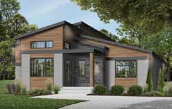 Modern Style House Plans Plan: 5-1376